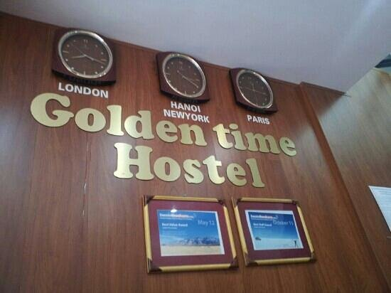 Golden Time Hostel:                   Reception