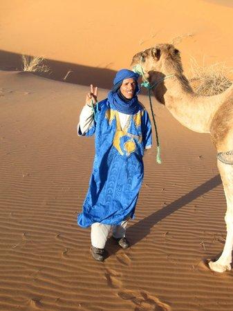 Riad Nezha: Our delightful camel driver, Achmed