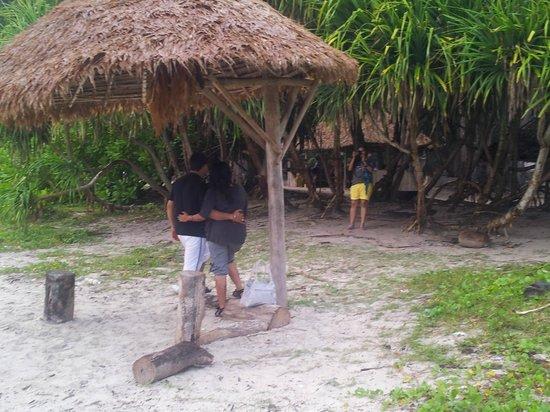 Island Vinnies Tropical Beach Cabana:                   relax space