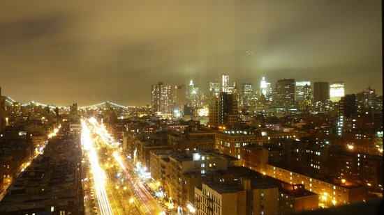 SIXTY LES:                   View of southern portion of Manhattan from my room on 16th Flr
