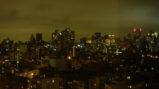 SIXTY LES:                   Night time view toward the west from my 16th Flr room