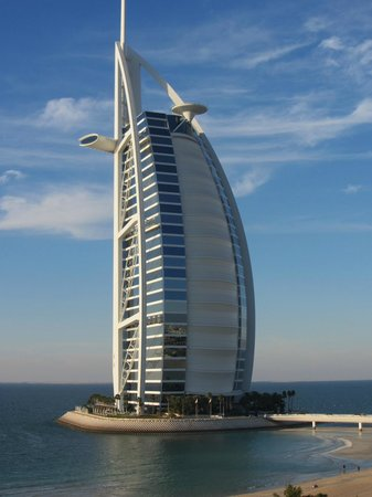 Jumeirah Mina A'Salam :                   View from our room of Burj al Arab