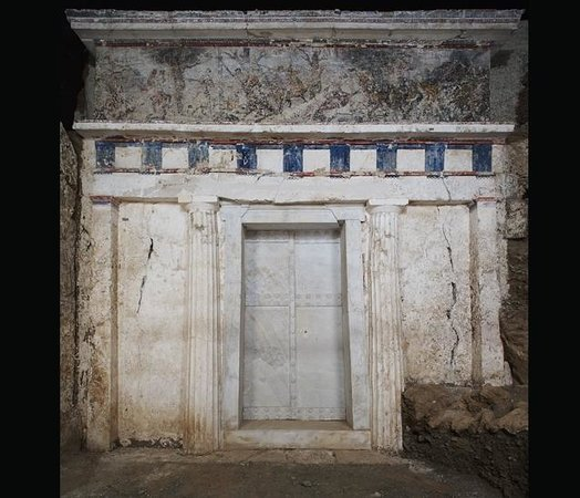Aigai:                   The tomb of Philip II, father of Alexander the Great