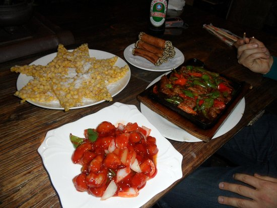 Quanzi International Youth Hostel :                   Food delivered from restaurant nearby
