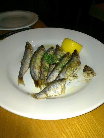 Regatta Restaurant: Sprats.  Not had them before.  A bit like whitebait but more flavour. Yummy.