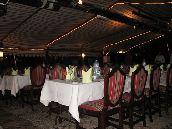 Dhow Dinner Cruise: Upper level seating