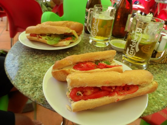 King of Sandwiches:                   Baguettes and beer!!