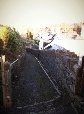 Old Tavistock Railway Station Cottages:                   Path to town
