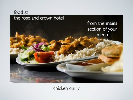 Rose and Crown: chicken curry