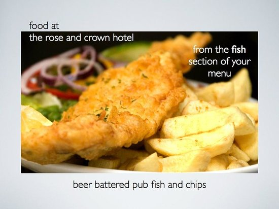 Rose and Crown: beer battered pub fish & chips