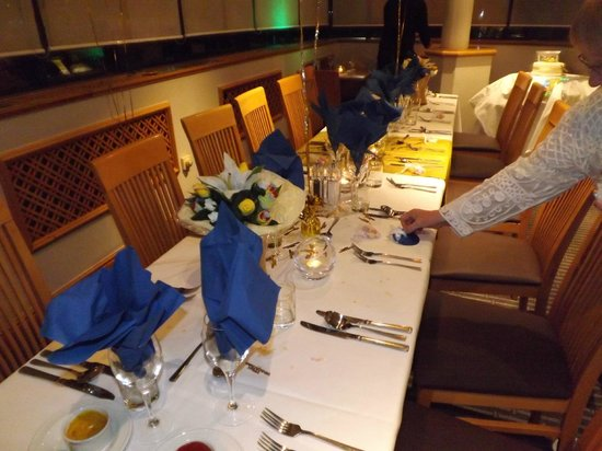 Holiday Inn Warrington:                   our evening meal