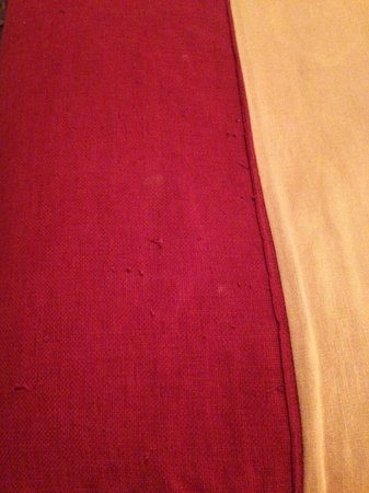 Park Hotel & Leisure Centre:                   Pulled threads on the bed throw - really takes from the rom