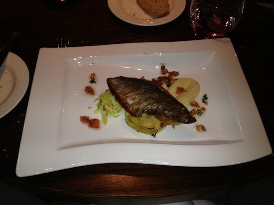 Quills Restaurant:                   sea bream