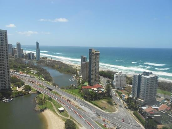 Surfers Paradise Marriott Resort & Spa:                   View from the retreat club