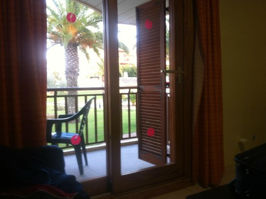 Albir Garden Resort:                   A glimpse of the view out on the Balcony