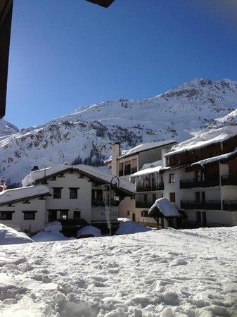 Hotel L'Aigle des Neiges:                   view from our room.