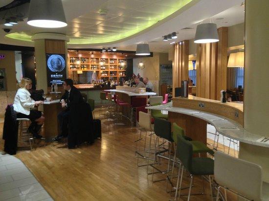 Pilots Bar & Kitchen :                   Rhubarb, London City Airport after security.