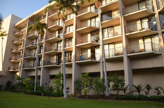 Courtyard by Marriott King Kamehameha's Kona Beach Hotel:                   部屋の小さなラナイ