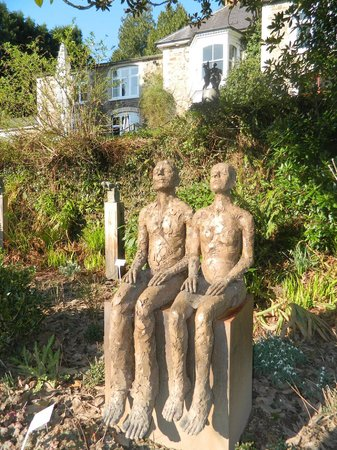 Muddiford, UK:                   some of the sculptures and hotel in background