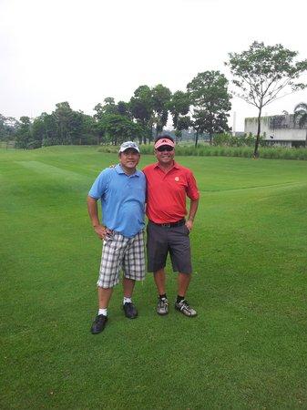 Royale Jakarta Golf Club:                                     Me & my Mate