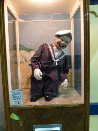 Milestones Museum: Laughing sailor slot machine.