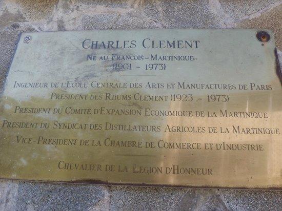 """Habitation Clement:                                     Plaque """"Clement"""""""