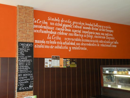La Ceiba Bakery:                   Clean and inviting atmosphere