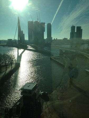 Inntel Hotels Rotterdam Centre:                   View from Panoramic Top room