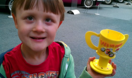 Coventry, UK:                   Huw with his completed trophy