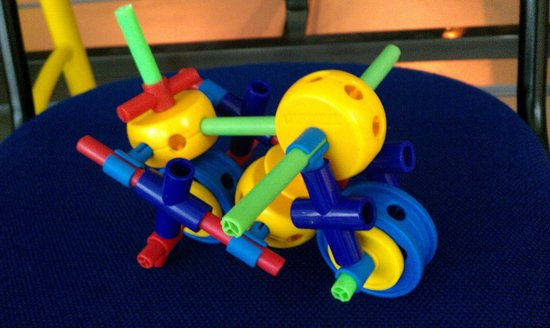 Coventry, UK:                   We made a motorbike to race- very tricky though!