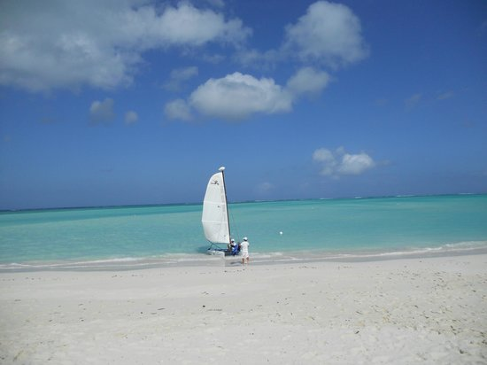 Parrot Cay by COMO:                   the beach at Parrot Cay