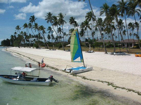 The Residence Zanzibar:                   View of the hobie cat available for free - photo taken from the jetty