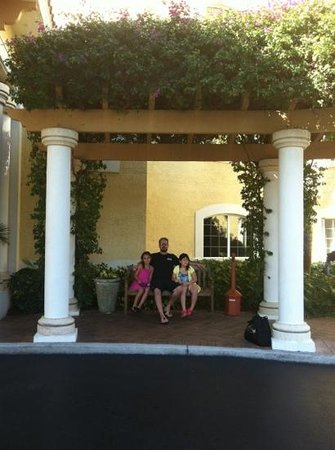my girls and I outside the Inn at Pelican Bay