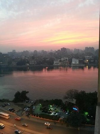 Conrad Cairo:                   sunset from our room view