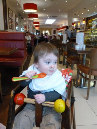 Forte's Cafe Restaurant:                                     Fortes and baby highchair