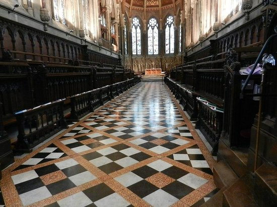 King's College Chapel:                   Interior of the chapel