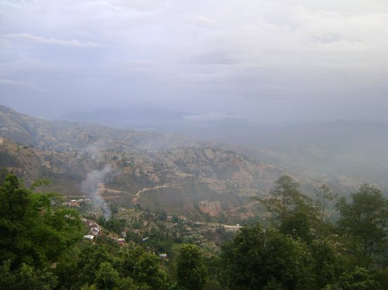 Dhulikhel, Nepal:                                     Valley before the fog
