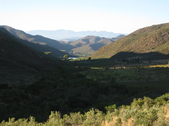 Tierhoek Cottages:                                     View from the stoep down the valley