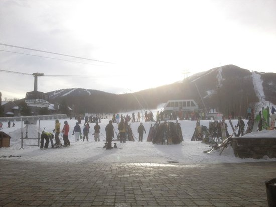 Jay Peak Resort:                   Looking up the mountain