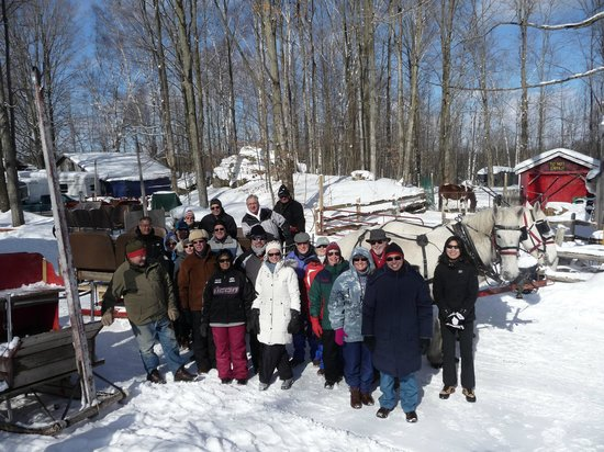 Sauble Falls Bed & Breakfast :                   Club Sleighride at Dual Acres in Shallow Lake