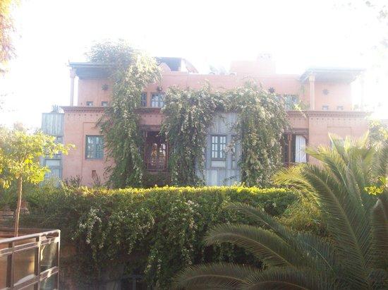 Dar Rhizlane :                   vue depuis le jardin