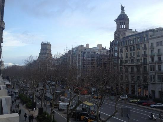 Mandarin Oriental, Barcelona: vista desde la habitacion, Paseo de Gracia