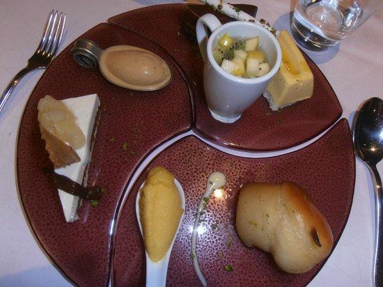 Le Medicis :                   Assiette desserts du pâtissier Le Médicis Blois