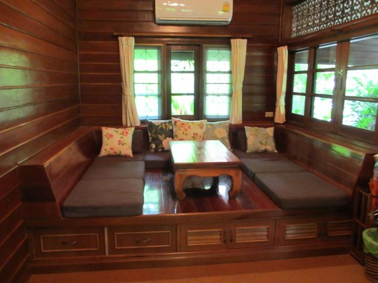 Smile House Resort:                   Cute seating in the cottage