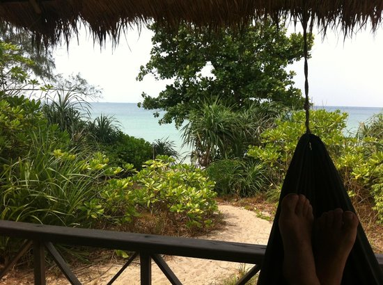 Lazy Beach:                                     View from my hammock on the balcony overlooking the path to