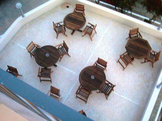 Mentor Hotel: Terrasse