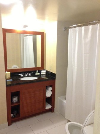 Hilton Tampa Downtown: Bathroom Room 1623