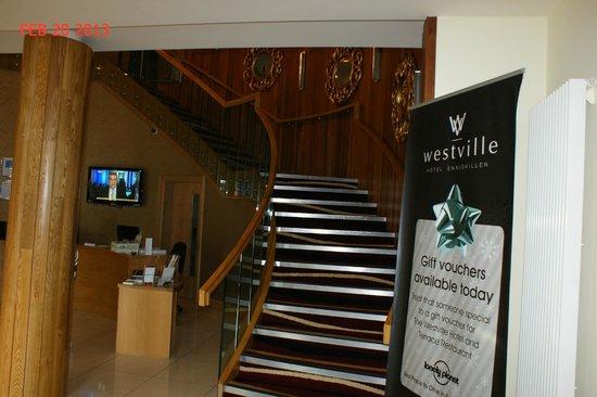 Westville Hotel :                   Reception/ Staircase