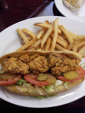 The River City Seafood & Grill:                   Oyster Po'boy