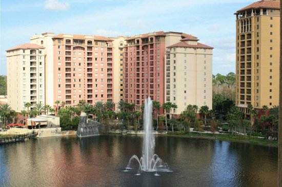 Wyndham Bonnet Creek Resort:                   tower 5 and lake